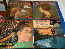 lot 4 LP ALFRED HAUSE and HIS ORCHESTRA la violetera MELODIEN kiss of fire TANGO