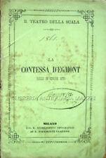 1861 – ROTA, LA CONTESSA D'EGMONT. BALLO – BALLETTO LIBRETTI TEATRO ALLA SCALA