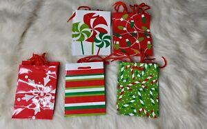 "Hallmark Image Arts 5"" Small Gift Bags  Holiday Christmas , (Pack of 10)"