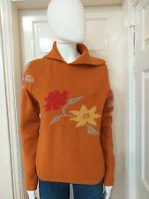 Weekend by Max Mara Wool Blend Floral Intarsia Knit Sweater/Jumper Size Medium.