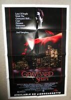 1987 GRAVEYARD SHIFT Movie Poster original, new, never used 27 by 41 inches