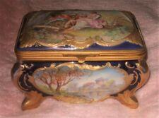 Antique French Porcelain Jewel Casket Magnificent Rare