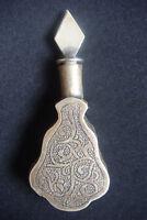 Rare Antique Islamic brass silvered handcraft Perfume Snuff Bottle