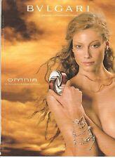 PUBLICITE ADVERTISING 2003 BVLGARI (bulgari) Omnia le nouveau Parfum Féminin