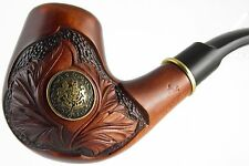 "Carved tobacco smoking pipe *Knight* (for 9mm filter) | pipes - 6.1"" (15,5cm)"