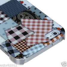 APPLE iPHONE 5 BACK COVER HARD CASE PHONE ACCESSORY CLOTH PUZZLE