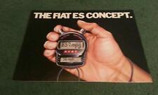 November 1983 FIAT UNO & STRADA ES - Energy Saving Models - UK FOLDER BROCHURE