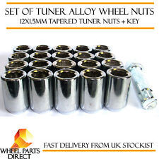 Set of 20 12x1.5mm 12x1.5 Tuner Drive Sparco SD Alloy Wheel Nuts Bolts + Key