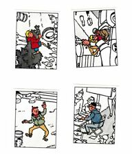 Herge Tintin Panini 1989 autocollant 4 im 179-180-181-182
