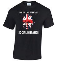 Social Distancing T-Shirt Distance Anti-Virus Advise Funny Winston Churchill