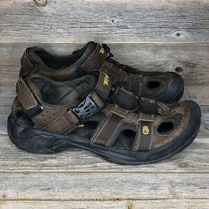Teva Omnium Brown Leather Sandals Men's Size 9 Hiking Sport Shoes 6153