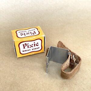 Pixie Wrist Strap For Pixie Subminiature Cameras, LEATHER, W/ Original Box, NICE
