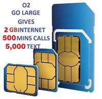 *OFFICIAL O2 SIM CARD PAY AS YOU GO STANDARD & MICRO & NANO