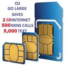 O2 SIM CARD PAY AS YOU GO STANDARD & MICRO & NANO new tariff