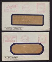 Victoria 2 x 1956/7 commercial advertising covers both POSTAGE PAID