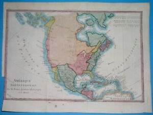 1787 rare ORIGINAL MAP UNITED STATES AMERICA CANADA CUBA FLORIDA NEW YORK TEXAS