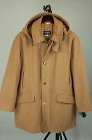 MABRUN Men's (EU) 48 or ~L Wool Blend Hooded Duffle Coat ITALY MADE! 10715_JS