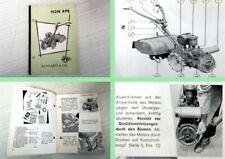 Bedienungsanleitung Bungartz H3N 4PS Einachser Betriebsanleitung 1955