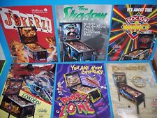 Lot Of (6) ORIGINAL Bally WMS PINBALL MACHINE FLYERS Doctor Who Jokerz set  #14
