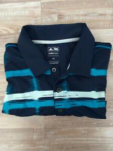 Polo Golfshirt Herren von Adidas ClimaCool Gr. L blau