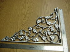 I pair of Cast Aluminum Filigree  Corner Brackets  Vine pattern