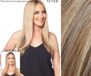 "Imperfect easihair easiPart 18"" Topper - 100% Human Hair - Color 12FS12 Malibu"