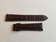 Original Longines marron avec couture blanche 21mm sans boucle