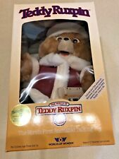 Teddy Ruxpin in Santa Suit w/ Christmas Tape - 1985 - New In Box & Unopened!