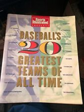 SPORTS ILLUSTRATED Presents BASEBALL'S 20 GREATEST TEAMS OF ALL TIME Magazine
