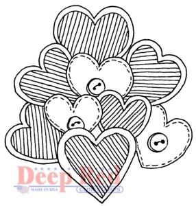 Deep Red Stamps Bunch of Love Rubber Cling Stamp