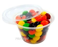 4 oz CLEAR Portion / Soufflé Cups with Lids 500 Sets -Plastic 4 Ounce Containers