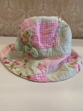 Janie And Jack Baby Girl Size 6-12 Months Pink & Green Plaid Hat
