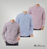 Mens Ben Sherman Long Sleeve Embroidered Checked Shirt Top Sizes from S to XXL
