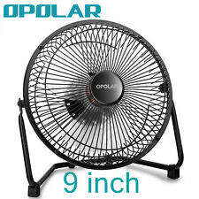 OPOLAR 9'' Super Quiet USB Fan Big Size Desk Fan, Strong Airflow, Metal Frame