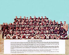 1967 FIRST NEW ORLEANS SAINTS NFL FOOTBALL TEAM 8X10 COLOR PHOTO