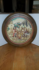 Vintage Anri 1972 Plate #0522 Christmas In Alberobello Musicians Pipers Flutes