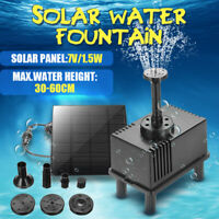 Solar Panel Power Pump Water Aquarium Waterfall Fountain Pool Garden Pond  . &