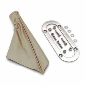 Emergency Brake Tan Boot w/ Stainless Trim Ring for Lokar Universal eBrake Kits