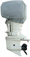 Carver Universal Boat Outboard Motor Cover 10hp Performance Poly-Guard Gray