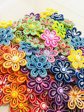 Lot 20 Paper quilling flowers hand made party decoration - 20 flowers