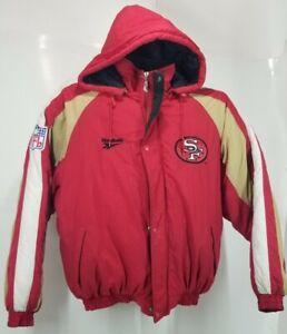 San Francisco 49ers Vintage Reebok Pro Line Hoodie Puffer Jacket siz M 90s Logo