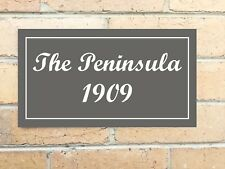 Custom Personalised House Plate Plaque Sign, Your Own Home Name, 328 x 180mm