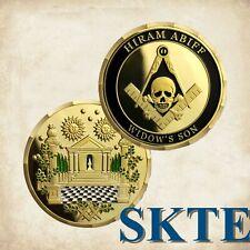 Masonic Challenge Coins Hiram Abiff Widow' s Son Blue Lodge Freemason Coin Gifts