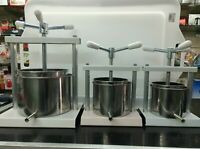 TORCHIETTO TORCHIO PREMITUTTO ACCIAIO INOX 1,5-3-5 litri OMAC MELANZANE,UVA ecc.