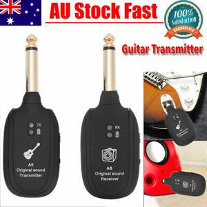 Wireless Audio Transmission Set W/Receiver Transmitter Electric Guitar Bass