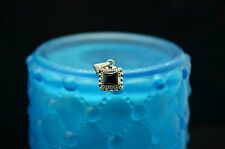 925 STERLING SILVER SQUARE ONYX WITH FANCY DESIGN PENDANT CHARM #X13853