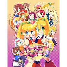 "New C89 Doujinshi Rockman(Megaman)Girls Art Book ""Girls Bravo!2""Japan"