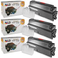 LD Compatible Toner Cartridge Replacement for Kyocera TK-362 (Black, 3-Pack)