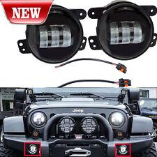 "2x CREE 4"" Round LED Fog Lights 30W For 2007-2014 Jeep Wrangler JK Off-road SUV"