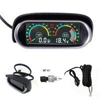 Oil Pressure MP Gauge Voltmeter 9-36v LED Display Car Truck Universal M14 x1.5